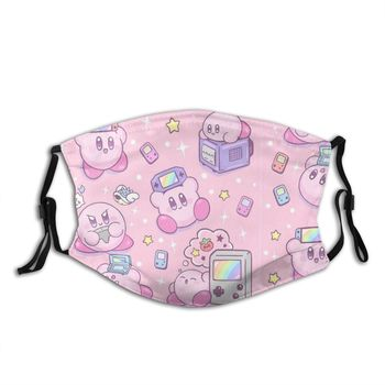 Kirby Gamer Unisex Reusable Face Mask Anti Haze Dust With Filters Protection Cover Respirator Mouth Muffle - discount item  40% OFF Mask