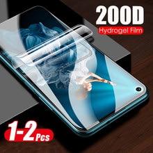 1-2 pces 200d hidrogel filme macio para honra 20 pro protetor de tela para huawei honra 20 30 pro mais 30lite honor20 20pro não vidro