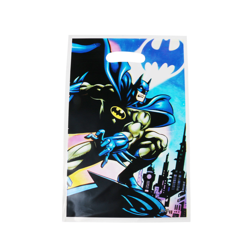 30pcs/lot Baby Shower Loot Bags Batman Superhero Wedding Decoration Kids Happy Birthday Party Supplies The Avengers Gift Bags