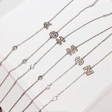 2020 Fashion Lady Lady Women Simple Letter Abbreviation Bracelet Lady Jewelry Stainless Steel Letter Give Gift