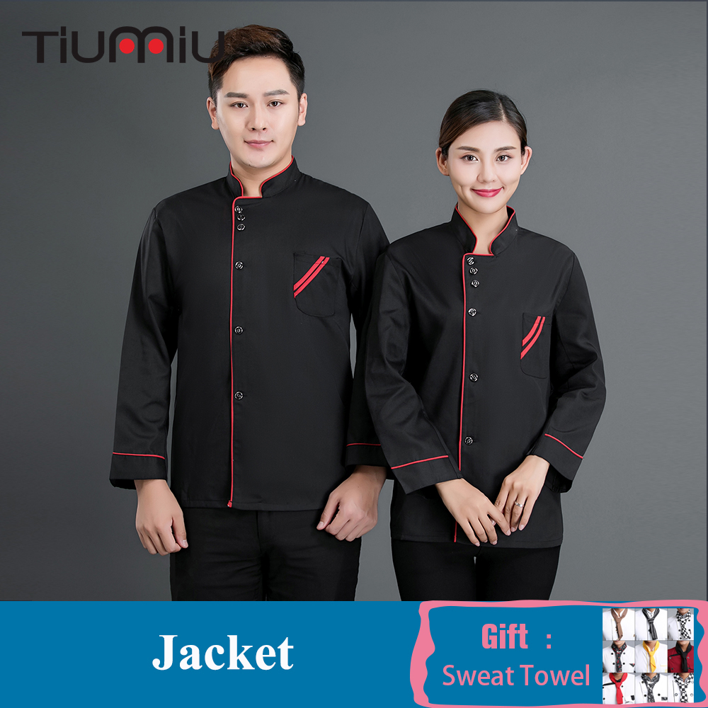New Arrival Chef Uniforms Men Women Long-sleeve Chef Jacket Coat Bakery Restaurant Kitchen Hotel Workwear Chef Clothes Wholesale