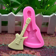 DIY stereo guitar handmade chocolate mold Fudge mould Cake decorations Silicone mold   silicone mold bear biscuit mold chocolate fudge mold silicone mold food grade silicone cake mold silicone mold