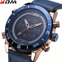 Multi Display Mens Watch Business Casual Sports Waistwatch For Man High Quality Quartz And Digital Round Alloy Reloj Hombre 8012