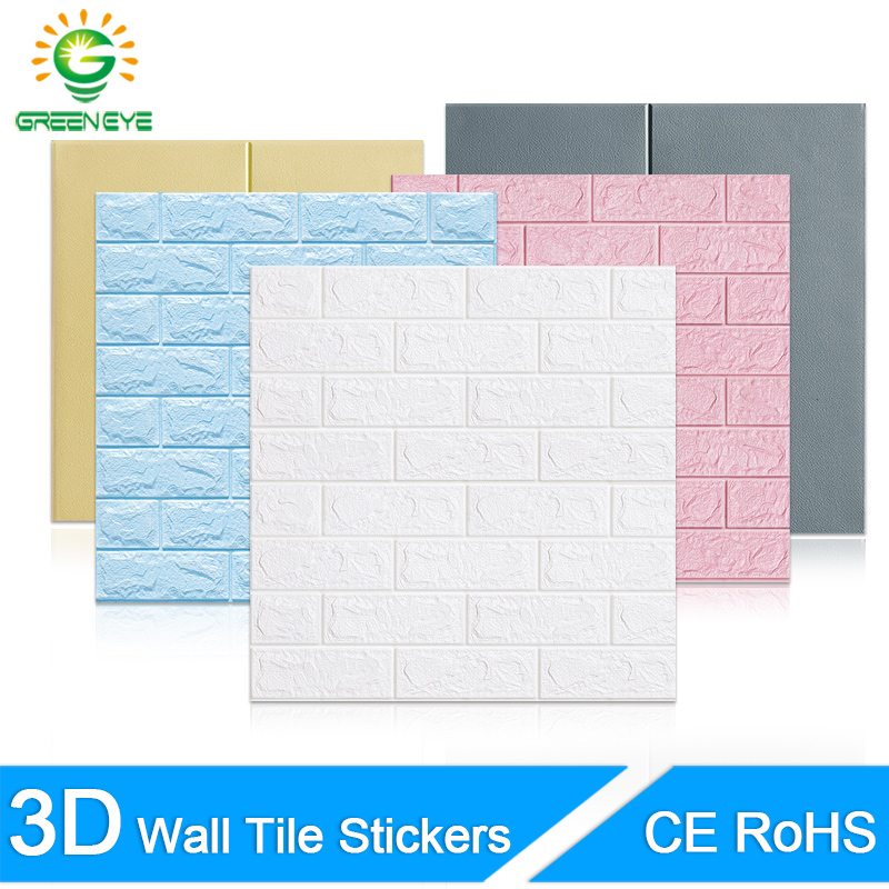 3D Wallpaper DIY Marble Brick Peel And Self-Adhesive Wall Stickers 70cm*77cm Waterproof For Kitchen Bathroom Wall Decal Sticker