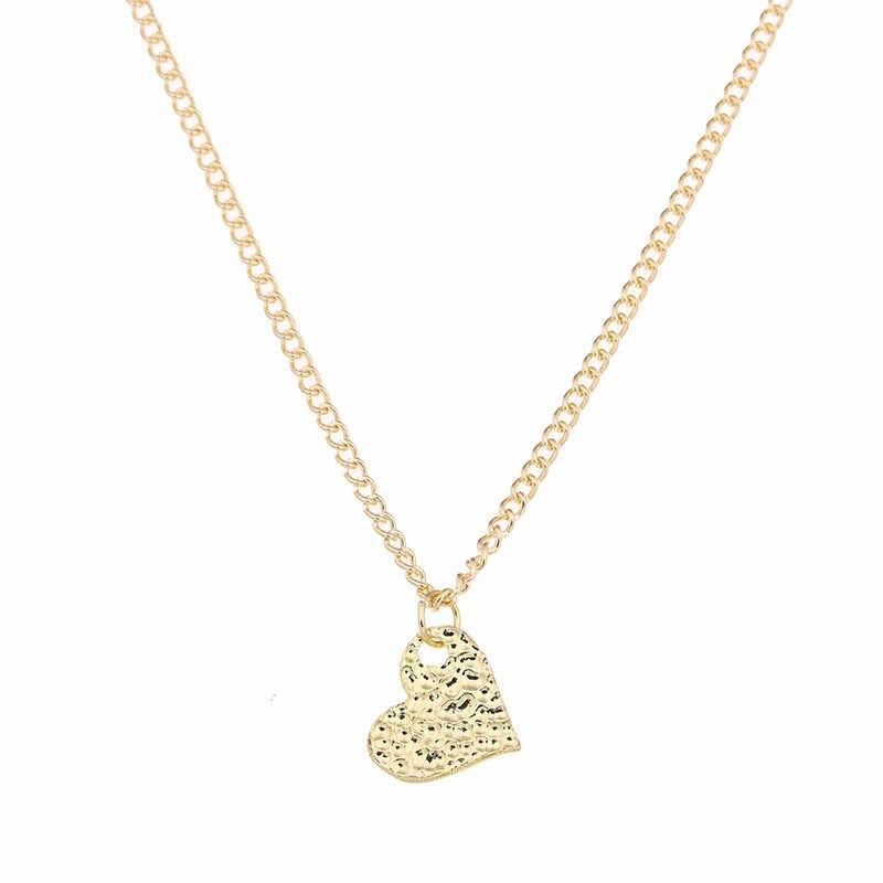 أزياء أنا أحبك القلب المختنق القلائد المعلقات الذهب القلب محظوظ الترقوة Chockers قلادة الزفاف حزب هدية