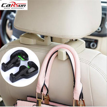 2pcs Car Hook Auto Vehicle Seat Headrest Silica Gel Bag Hook Car