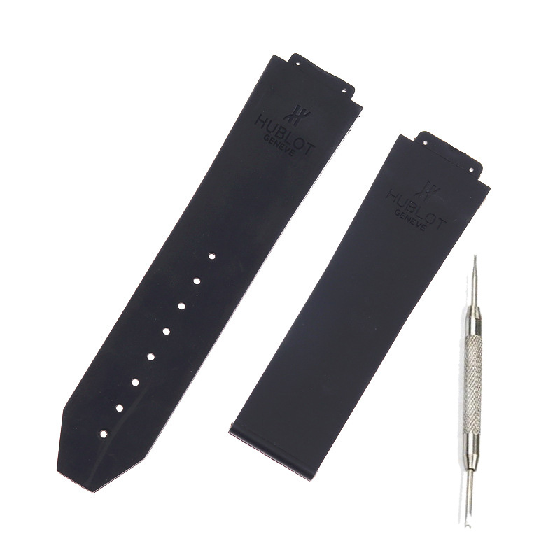 Watch Accessorie Silicone Strap For Hublot For BIG BANG Men Watchbands 25*17mm Belt Watch Band With Logo Sport Black Watchband