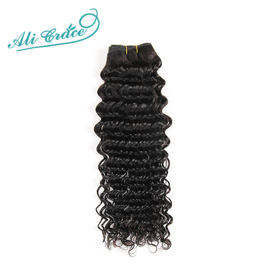 ALI GRACE Hair Brazilian Deep Wave Hair Bundles Deal 100% Remy Human Hair Extension 3 and 4 Bundles Available Deep Wave Hair