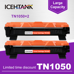 ICEHTANK 2 sztuk TN1050 wkład z tonerem kompatybilny do Brother TN1030 TN1050 TN1060 TN1070 HL-1110 1210 MFC-1810 DCP-1510 1610W