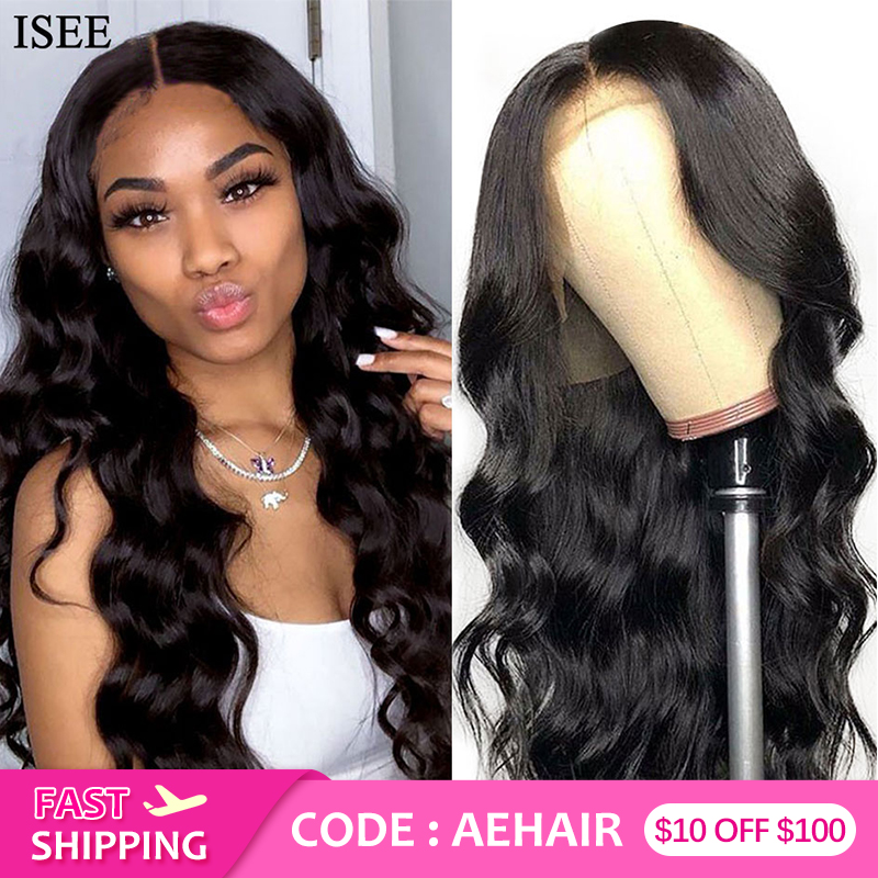 Body Wave Lace Front Wigs For Women 13X4 Peruvian Human Hair Wigs 150%Density Body Wave Wig ISEE HAIR Lace Front Human Hair Wigs