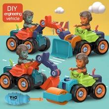 Toys Building-Blocks Screw Truck Engineering Disassembly Education Kids Boys Nut Car-Model