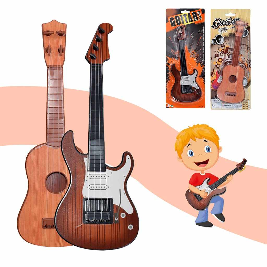 Baby Toys Beginner Classical Ukulele Guitar Educational Musical Instrument Toy for Kids Musical Toys Christmas Music Gift
