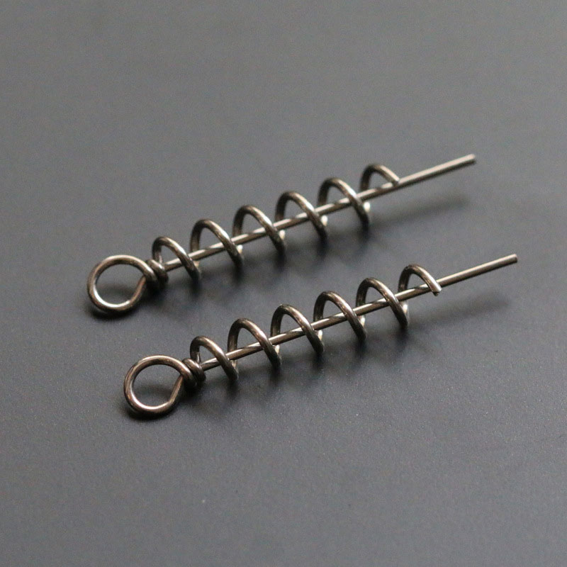 30pcs Stainless Steel Soft Bait Spring Lock Pin Fishing Bait Connector  Assist Worms Lure Hook Fishing Tackle Accessories
