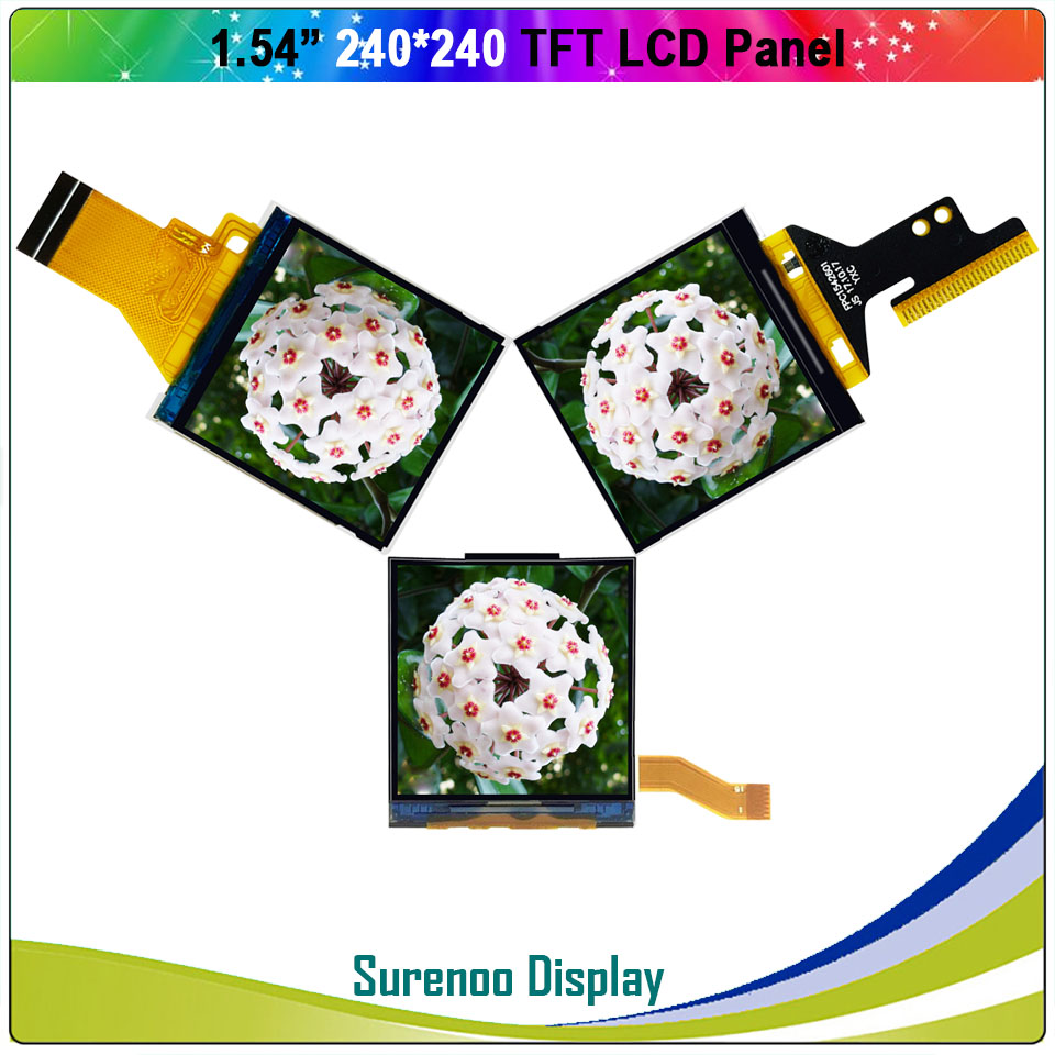 """1.54"""" Inch 240*240 Serial SPI / 8_Bit MCU TFT LCD Module Display Screen Panel LCM Build-in ST7789 Driver"""