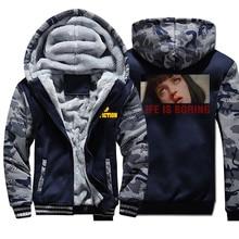 Pulp Fiction Men Thick Winter Fleece Warm Jacket L