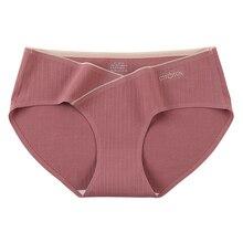 Seamless Briefs Silk Pregnant-Women Plus-Size Panties Crotch Anti-Bacterial Low-Rise