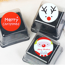 10 page/90 pcs Christmas Round stickers 3cm Seal tags Merry christmas Santa claus Xmas Natal gift box New Year Home