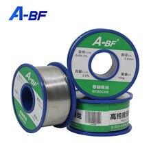 A-BF fio sem chumbo da lata da solda alto brilho não-limpo ferramenta de solda da estação de solda do ferro de solda 0.6mm/0.8mm/1.0mm