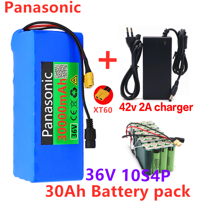Lithium-Battery-Pack Electric-Bicycle-Scooter 30ah 500W 36v 10s4p 18650 Charger 30000mah
