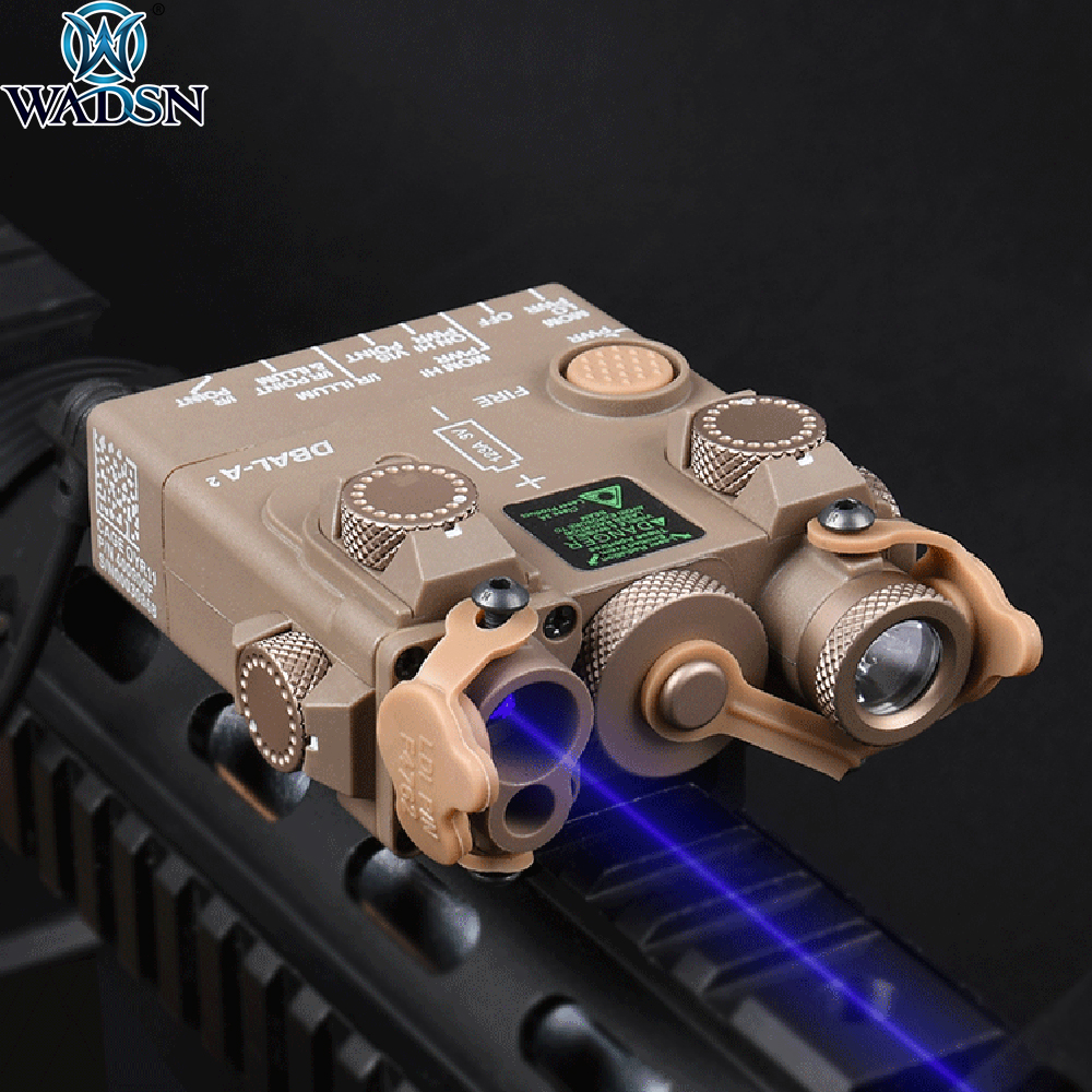 WADSN DBAL-A2 PEQ15 Aiming Laser IR & Blue Laser with Led White Light Illuminator Airsoft Hunting Weapon Rifle Laser Sight