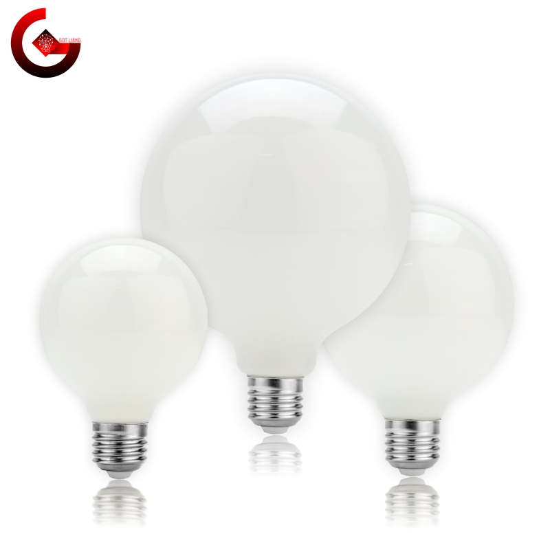 Эдисон светодиодный светильник лампы E27 5 Вт A60 G80 G95 G125 молочно-Стекло лампы 220V-240V шар лампы Холодный/теплый белый лампада светодиодный потол...