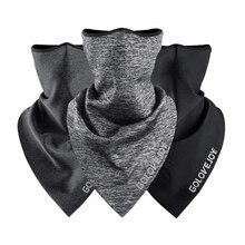 Спортивная маска для лица, зимняя тренировочная маска, флисовая накидка для бега, велоспорта, езды на велосипеде, шеи, теплый треугольный шарф, бандана, головной убор