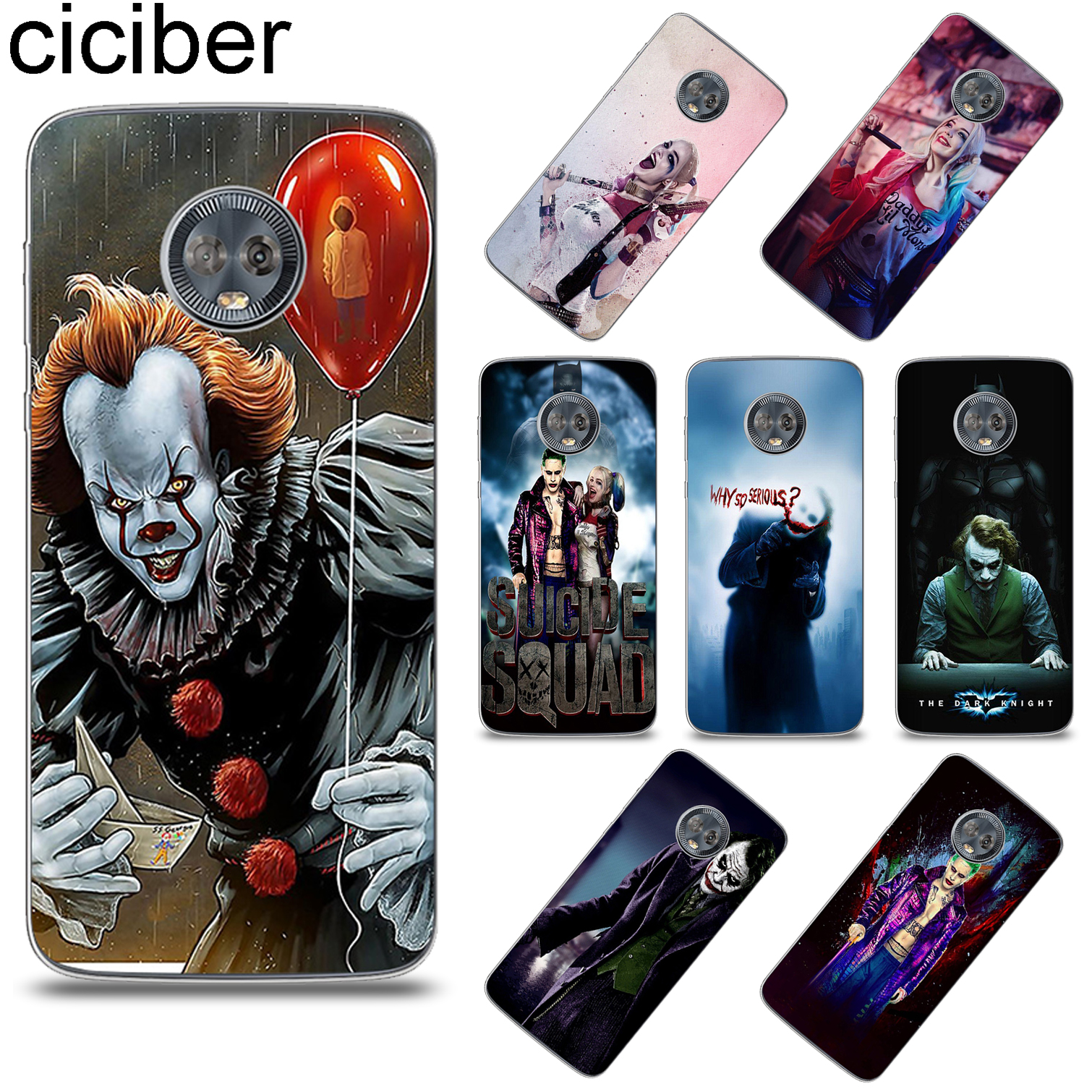 Suicide Squad Joker For Motorola Moto G6 G5 G5S E5 E4 C Z2 Z3 ONE P30 G4 Plus Play Power M X4 Soft TPU Phone Case Coque