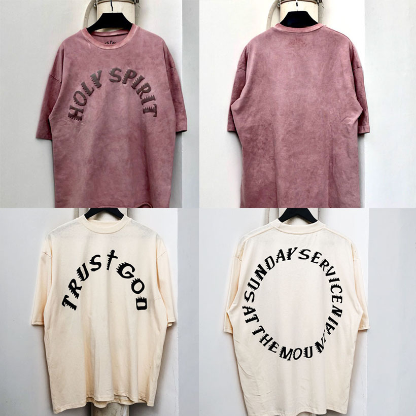 19SS New Holy Spirit T-shirt Kanye West Sunday Service CPFM T Shirt 100% Cotton High Quality 1:1 Tshirts Men Women Summer Style