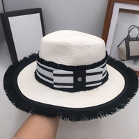New small sweet summer wind the peach heart hat on holiday and women straw hat brim han edition sunshade socialite tassee