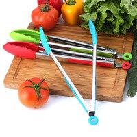 Kitchenace 1pc 식품 학년 실리콘 바베큐 클립 통 주방기구 요리 클램프 액세서리 샐러드 봉사 바베큐 가제트 및 도구
