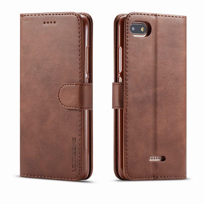 Caso de luxo para xiaomi redmi 6a capa magnética flip wallet suporte telefone capes em xiomi redmi 6 um vintage simples sacos coque redmi6a