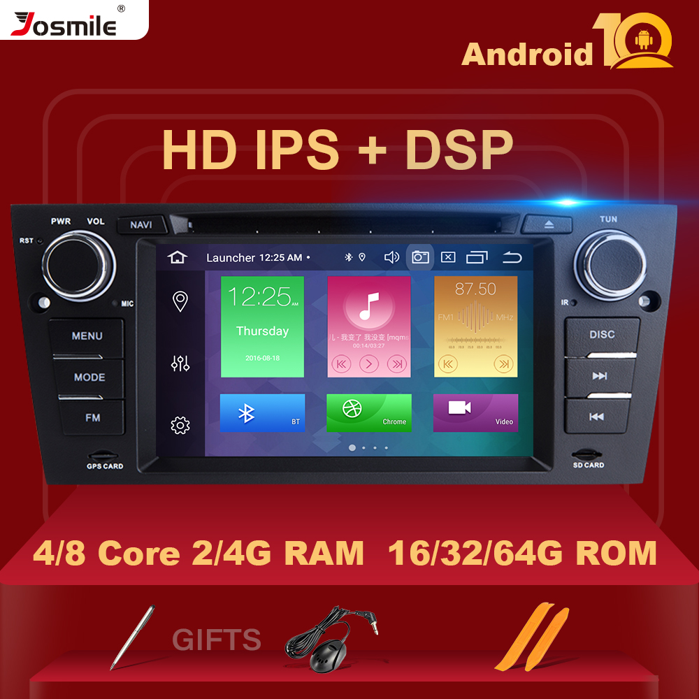 8 Core 4GB 64G 1 Din <font><b>Android</b></font> 10 CarMultimedia Player For <font><b>BMW</b></font> <font><b>E90</b></font>/<font><b>E91</b></font>/<font><b>E92</b></font>/<font><b>E93</b></font> Radio Navigation GPS Stereo DVD head Unit IPS DSP image
