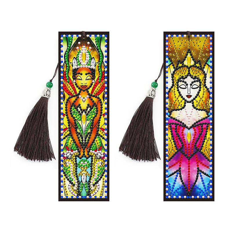 2 Pieces of religious girl diamond painting bookmark diamond embroidery cross stitch DIY holiday gift bookmark|Diamond Painting Cross Stitch| - AliExpress