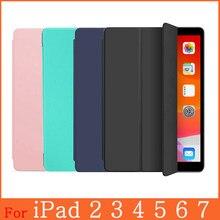 Capa funda para ipad, capa inteligente ultrafina para apple ipad 2 3 4 5 6 7 9.7 10.2 4th 6th 7th geração auto acordar/dormir