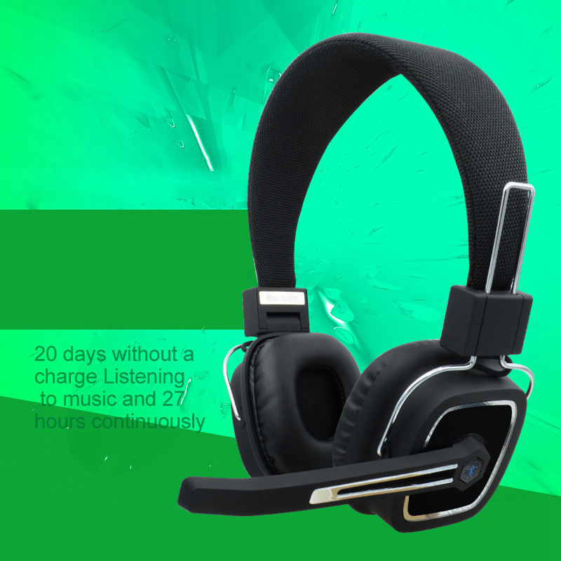 Wireless Bluetooth Head Mounted Headphones Noise Reduction Stereo Bass Headset 15 Hours Battery Life With Mic in Bluetooth Earphones Headphones from Consumer Electronics