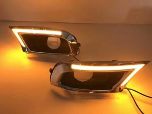 Image 5 - 자동차 깜박이 2Pcs LED DRL 낮 실행 조명 도요타 캠리 2009 2010 2011 안개 빛 노란색 차례 신호와 파란색