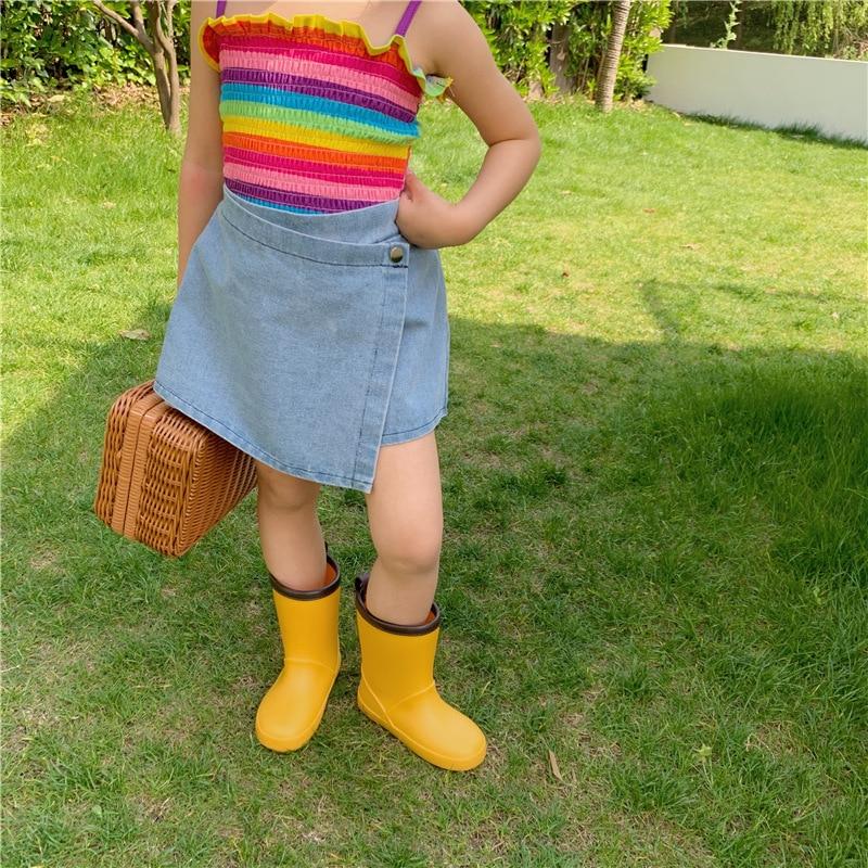 MILANCEL 2021 Summer New Girls Pants Korean Solid Casual Denim Shorts