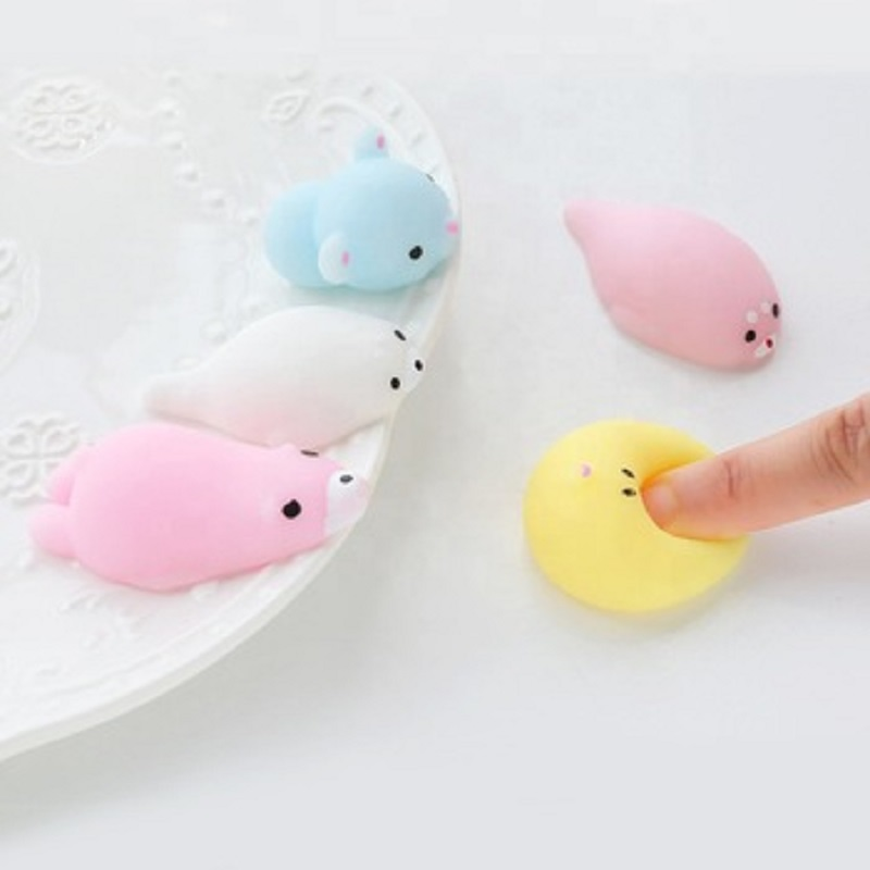 Mochi Animal Squeeze Toys Soft Plastic Rubber Slow Rising Squishy