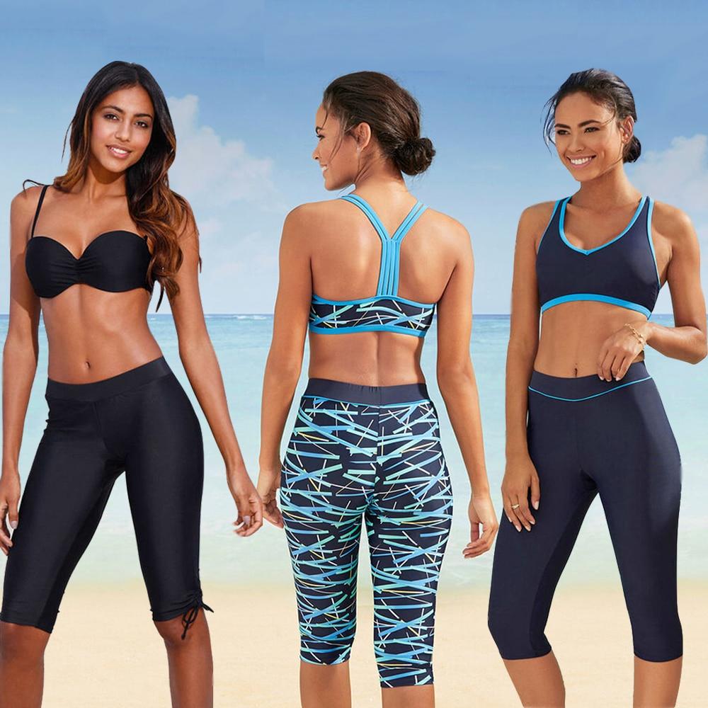 LI-FI 2020 New Print Pants High Waist Swimsuit Bikini Sexy Swimwear Women Summer Vacation Bathing Suit Beach Split Swimsuit