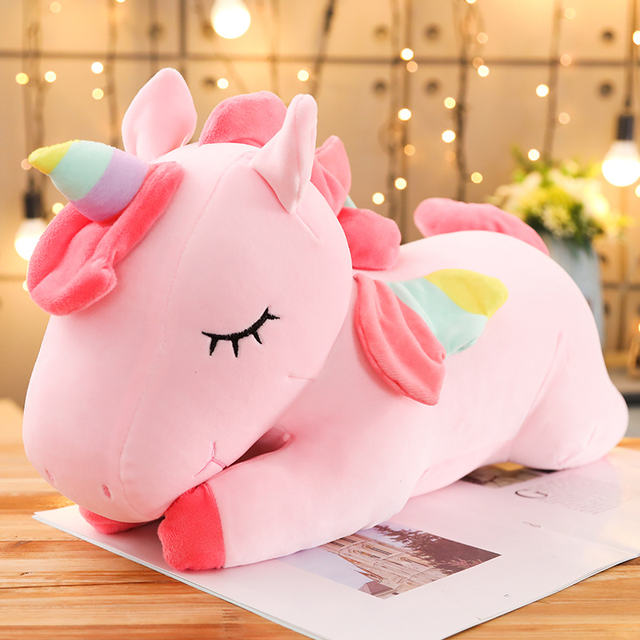 Soft Stuffed Unicorn Soft Dolls Animal Horse Toys For Girls
