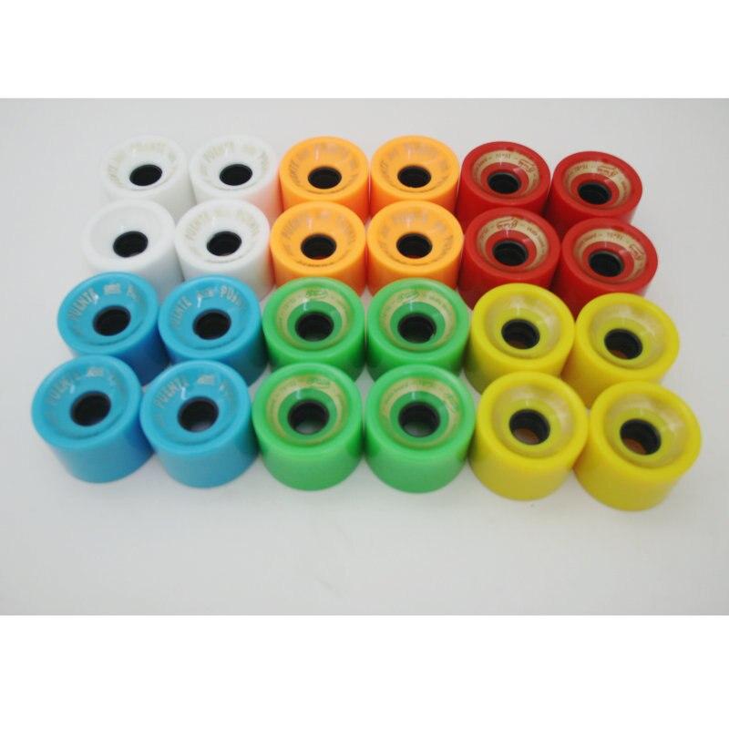 1pc 70*51mm Skateboard Wheel Fish Board Brush Street High Elastic Wheel Color PU Wheel 78A Longboard Wheel Dropshipping