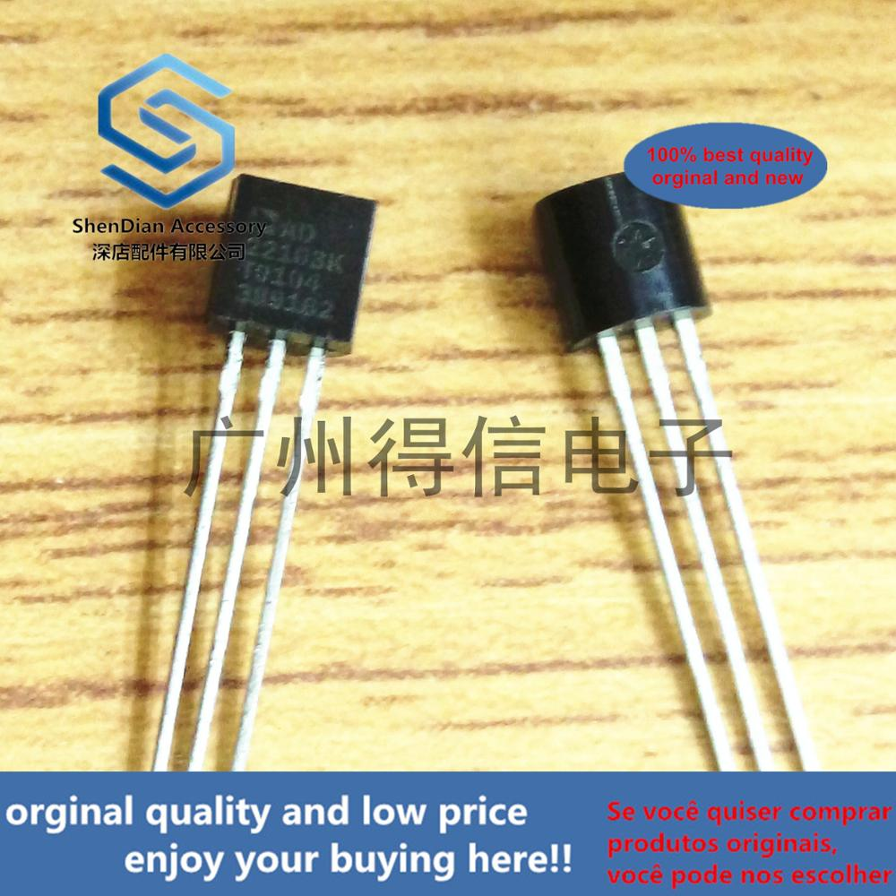 10pcs 100% New And Orginal AD22103K AD22103 3.3 V Supply, Voltage Output Temperature Sensor With Signal Condition TO-92 In Stock