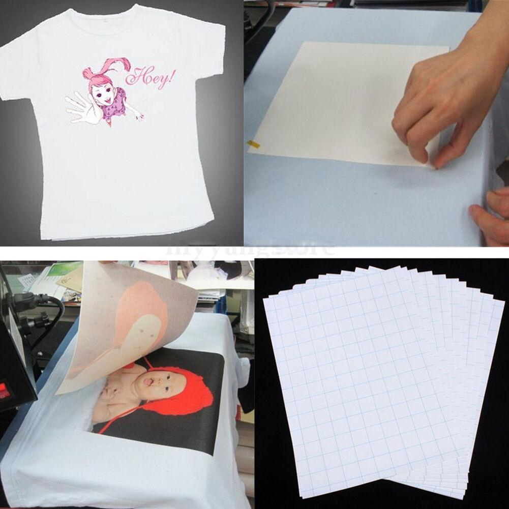 10pc/set T-Shirt Print Iron-On Heat Transfer Paper Sheets On Heat Press Light Fabrics For Dark/Light Cloth For T Shirts A4 Craft