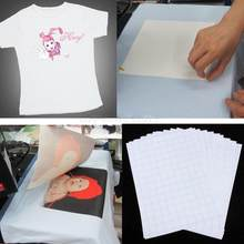 10pc/set T-Shirt Print Iron-On Heat Transfer Paper Sheets On Heat Press Light Fabrics For Dark/Light Cloth For T Shirts A4 Craft(China)