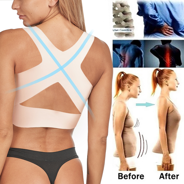 Posture Corrector Support Bra for Women Back Support Shapewear Chest Brace Up 2 In 1 Shoulder Lumbar Correction Health Care 4