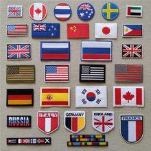 Нашивки с американским флагом для одежды, «сделай сам», полосы, аппликации с помощью утюга, термонаклейки для одежды, вышивка, значки с брита...