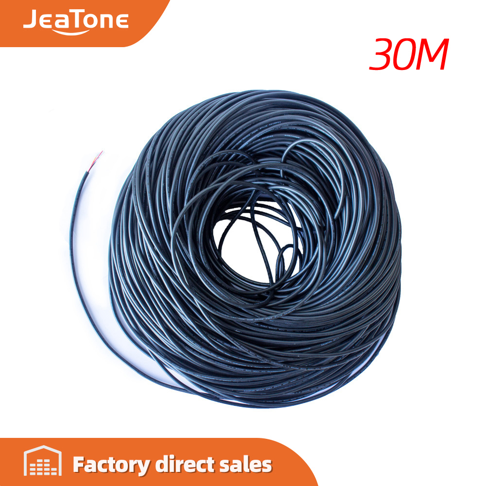 JeaTone Video Extend Cable 4x0.2mm 5/10/20/30 Meters Tinned Copper Wire Free Shipping