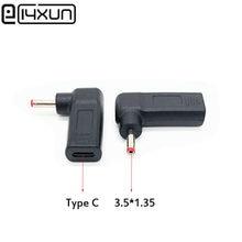 1pcs Dc USB Type C USB C Female to 3.5*1.35 3.5x1.35mm Male Plug Converter Power Jack Connector Adapter