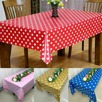 Mantel grande rectangular de plástico para decoración de mesa, 5ocs/lote