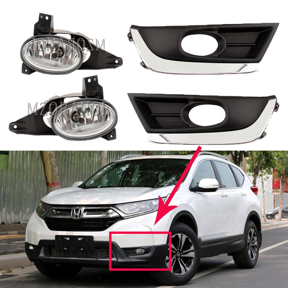 Fit For Honda CR-V CRV 2007 2008 2009 Clear Fog Lights Assembly ...